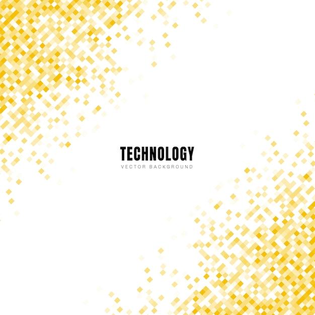 Quadrados amarelos geométricos diagonais abstratos Vetor Premium