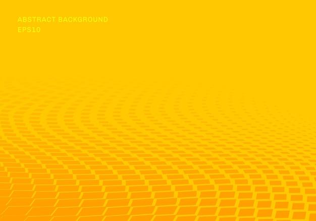Quadrados amarelos gradientes abstratos onda padrão Vetor Premium