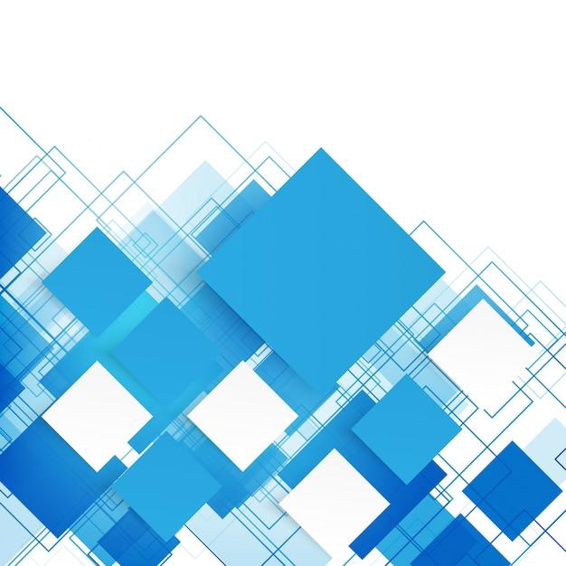 Quadrados azuis vetoriais. resumo de fundo. Vetor grátis