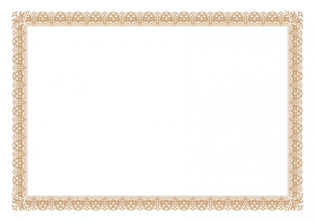 Quadro abstrato ornamento Vetor Premium