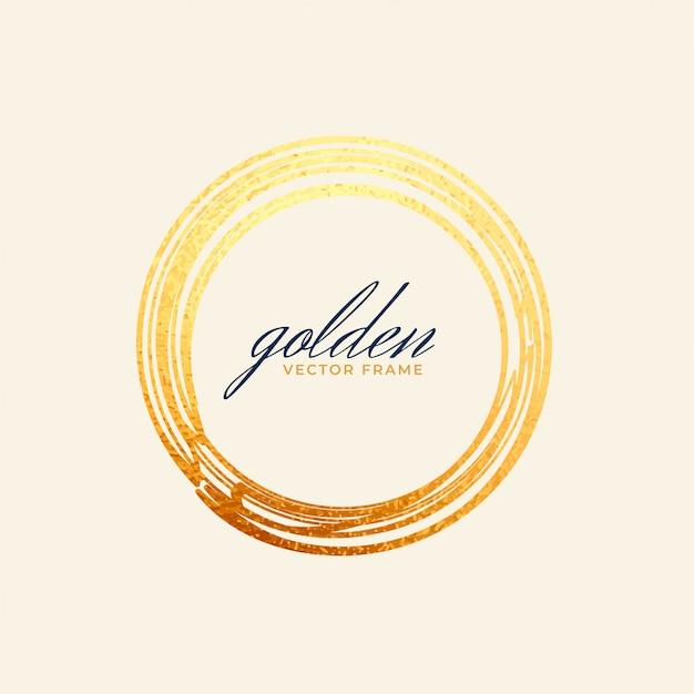 Quadro círculo dourado Vetor grátis