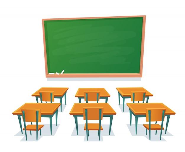 Quadro de escola e secretárias Vetor Premium