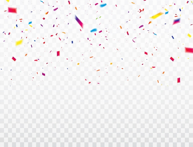 Quadro de fitas de confetes de celebração. luxo rico saudação cartão. Vetor Premium