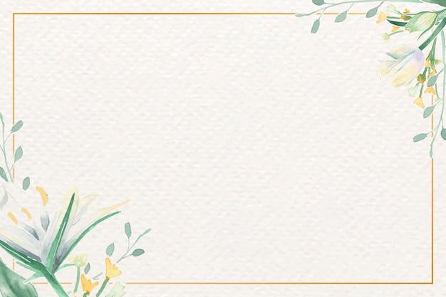 Quadro de flor aquarela Vetor grátis
