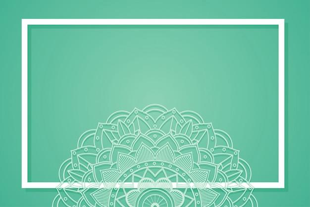 Quadro de fundo com desenhos de mandala Vetor grátis