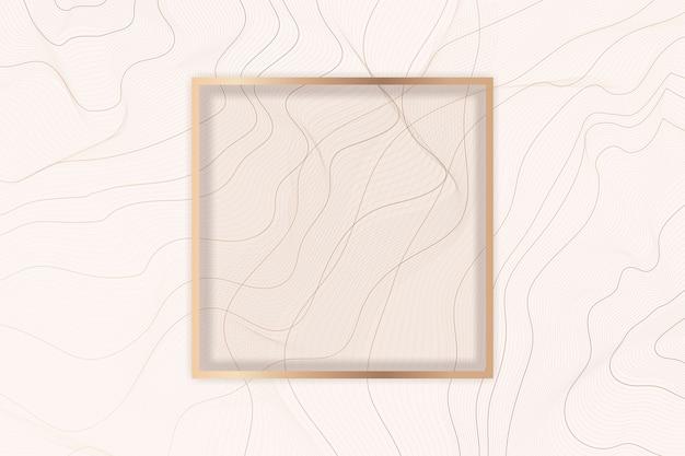 Quadro de fundo da linha de contorno Vetor grátis