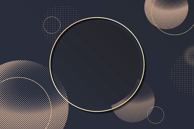 Quadro de fundo de círculo de meio-tom Vetor grátis
