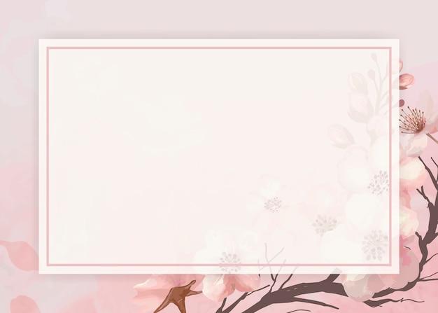 Quadro de fundo de flor de cerejeira Vetor grátis