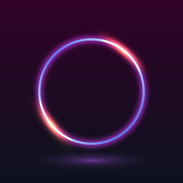 Quadro de luz de néon Vetor grátis