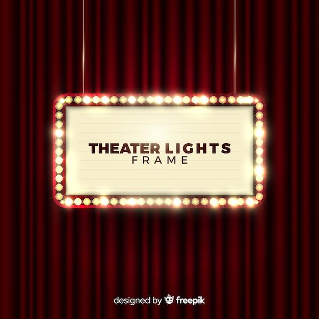 Quadro de luzes de teatro Vetor grátis