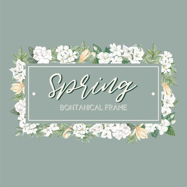 Quadro de primavera floral Vetor grátis