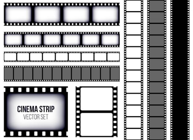 Quadro de tira de filme retrô antigo Vetor Premium