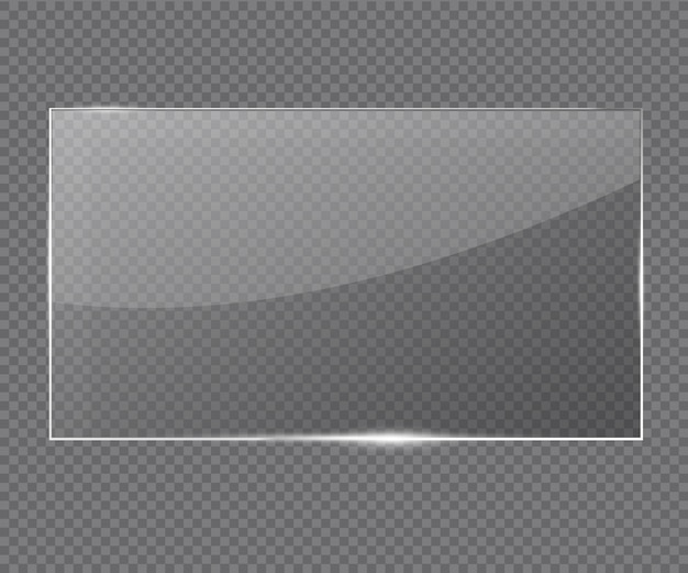 Quadro de vidro de vetor. Vetor Premium
