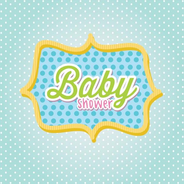 Quadro do chuveiro de bebê Vetor Premium