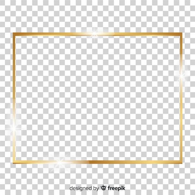 Quadro dourado quadrado realista Vetor grátis