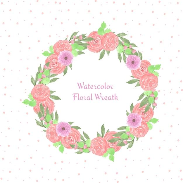 Quadro floral com lindas flores Vetor Premium
