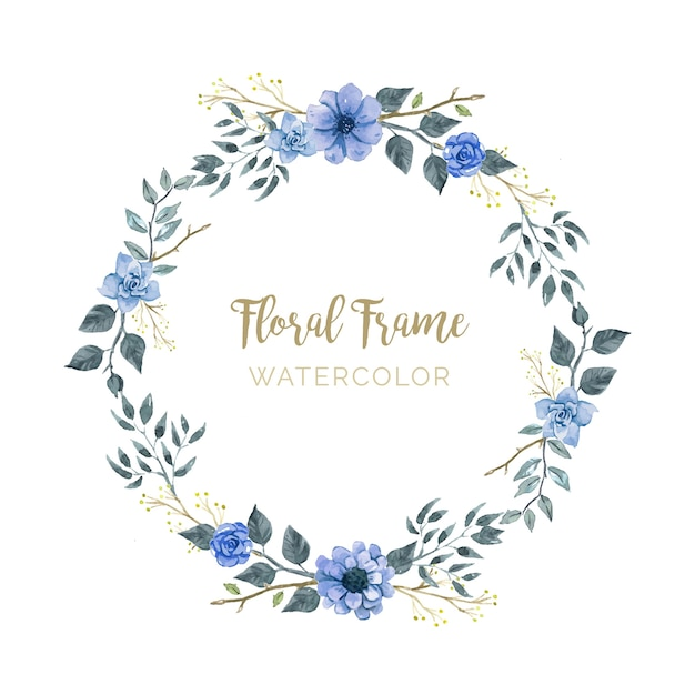 Quadro floral elegante Vetor grátis