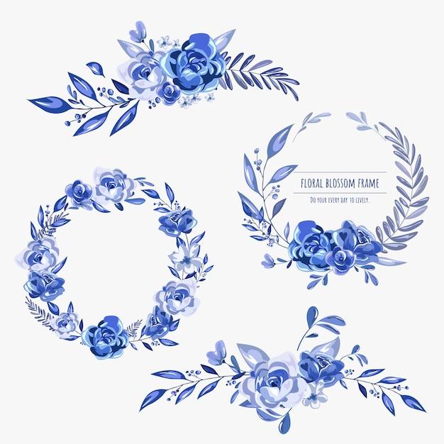 Quadro floral para cartões de convite e gráficos. Vetor Premium