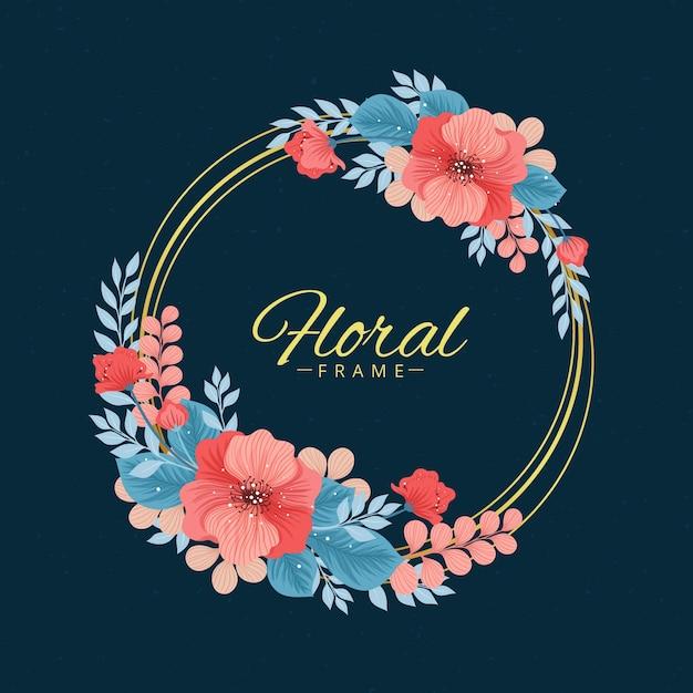 Quadro floral primavera desenhada de mão Vetor grátis