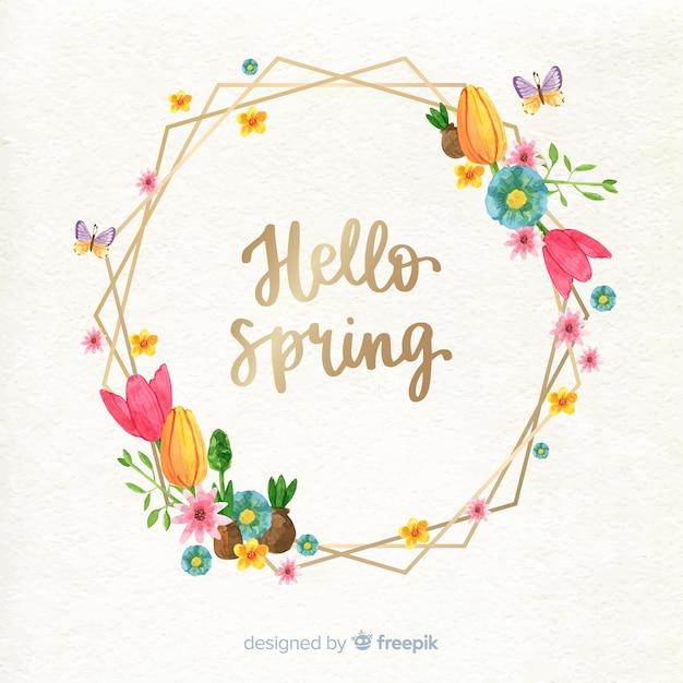Quadro floral primavera Vetor grátis