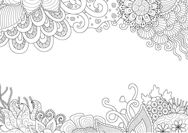 Quadro floral Vetor Premium