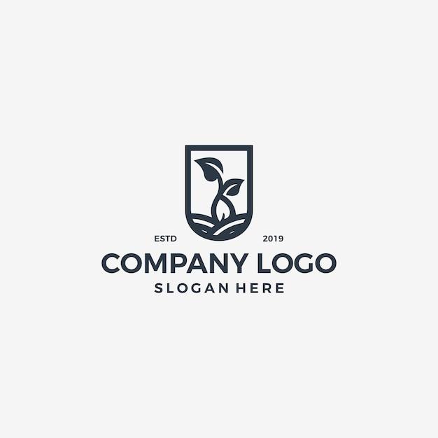 Quadro logotipo vetor único simples Vetor Premium