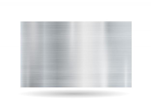 Quadro metálico abstrato no fundo branco Vetor Premium