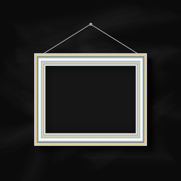 Quadro suspenso em um quadro-negro Vetor grátis