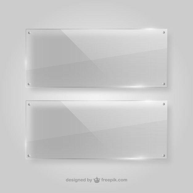 Quadros transparentes de cristal Vetor grátis