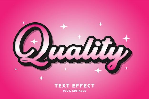 Qualidade - efeito de texto, texto editável Vetor Premium