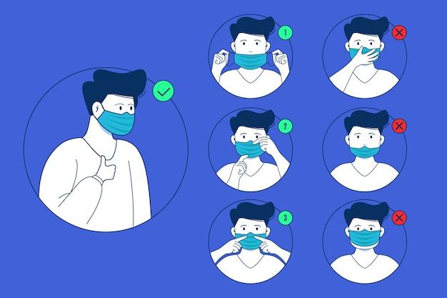 Quando e como usar o infográfico de máscara Vetor grátis