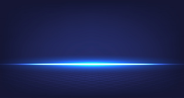 Quarto abstrato azul Vetor Premium