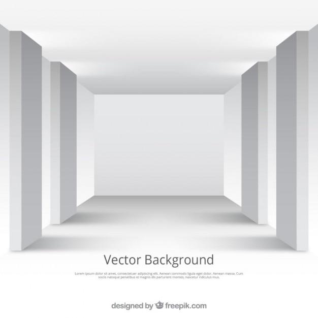 Quarto branco do estúdio Vetor grátis