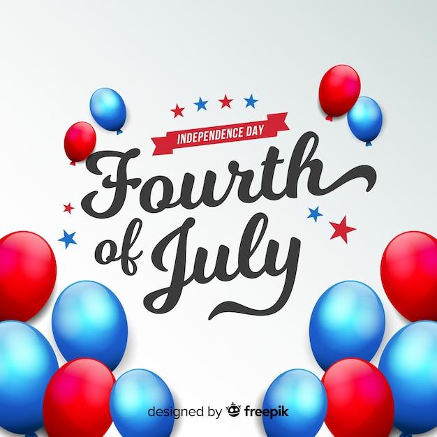 Quatro de julho Vetor grátis