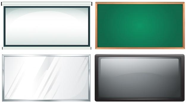 Quatro design de placa Vetor grátis