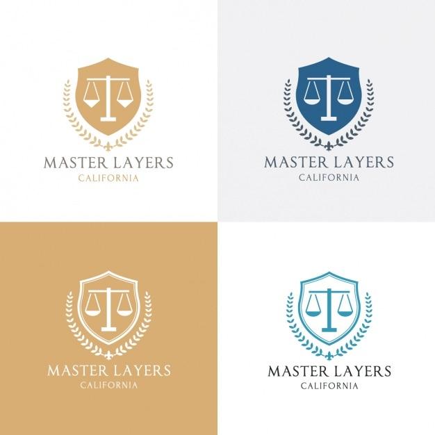 Quatro logotipo sobre a justiça Vetor grátis