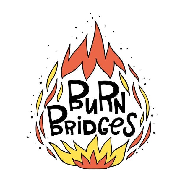 Queime as pontes Vetor Premium