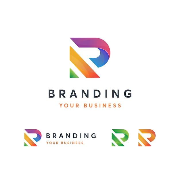 R logo template Vetor Premium