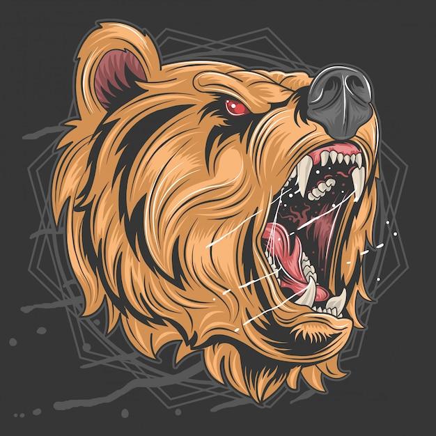 Raça do urso de mel Vetor Premium