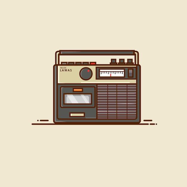 Rádio antiga Vetor Premium