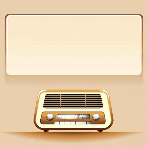 Rádio com espaço para texto Vetor grátis