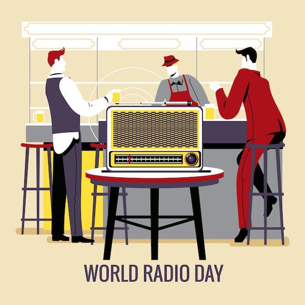 Radio_day Vetor Premium