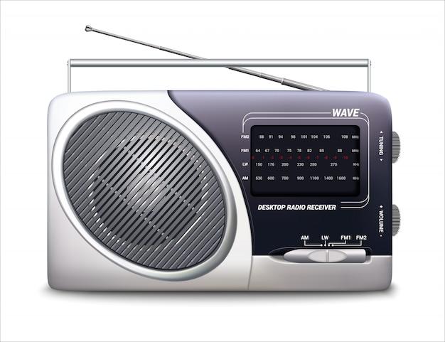 Rádio retrô Vetor Premium