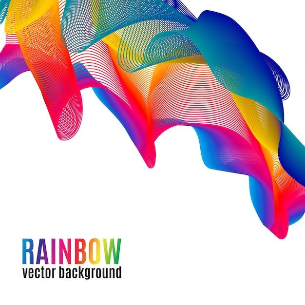Rainbow lines vector background Vetor Premium