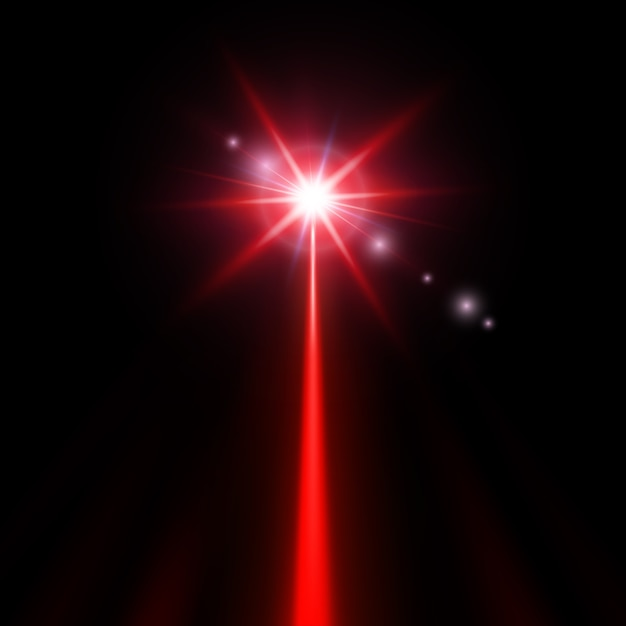 Raio laser vermelho Vetor Premium