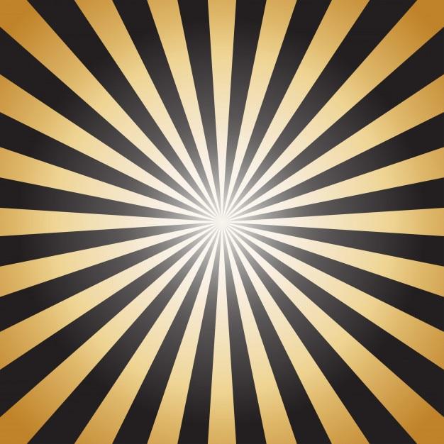 Raios de raios de sol abstrato ouro sobre fundo escuro Vetor Premium
