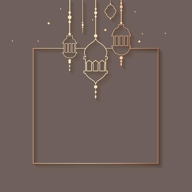 Ramadan emoldurado design de plano de fundo Vetor grátis