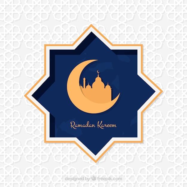 Ramadan kareem estrela de fundo Vetor grátis