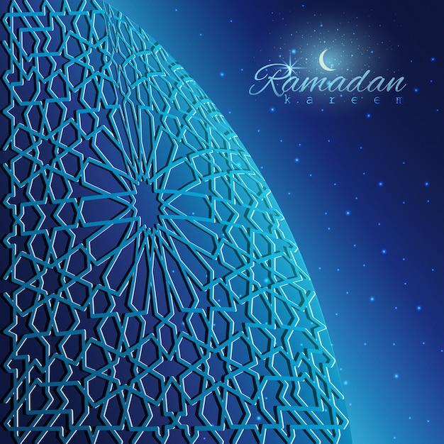 Ramadan kareem fundo Vetor Premium
