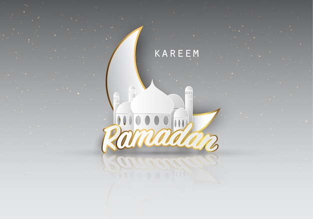 Ramadan kareem fundo. Vetor Premium